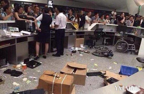 【图】航班延误打砸机场