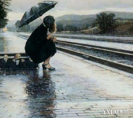 看雨中打伞女孩背影图 是否勾起你内心深处的伤