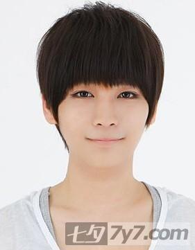 五个韩款男生短发烫发发型短发纹理烫发型韩国型男帅哥五个韩款