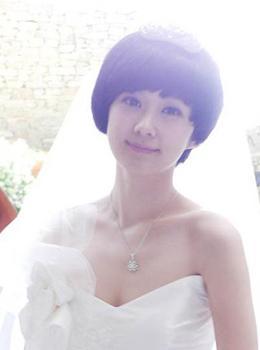 短发婚纱造型_韩式婚纱造型