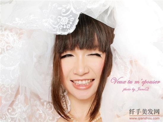 90后新娘结婚当天发型分享展示图片