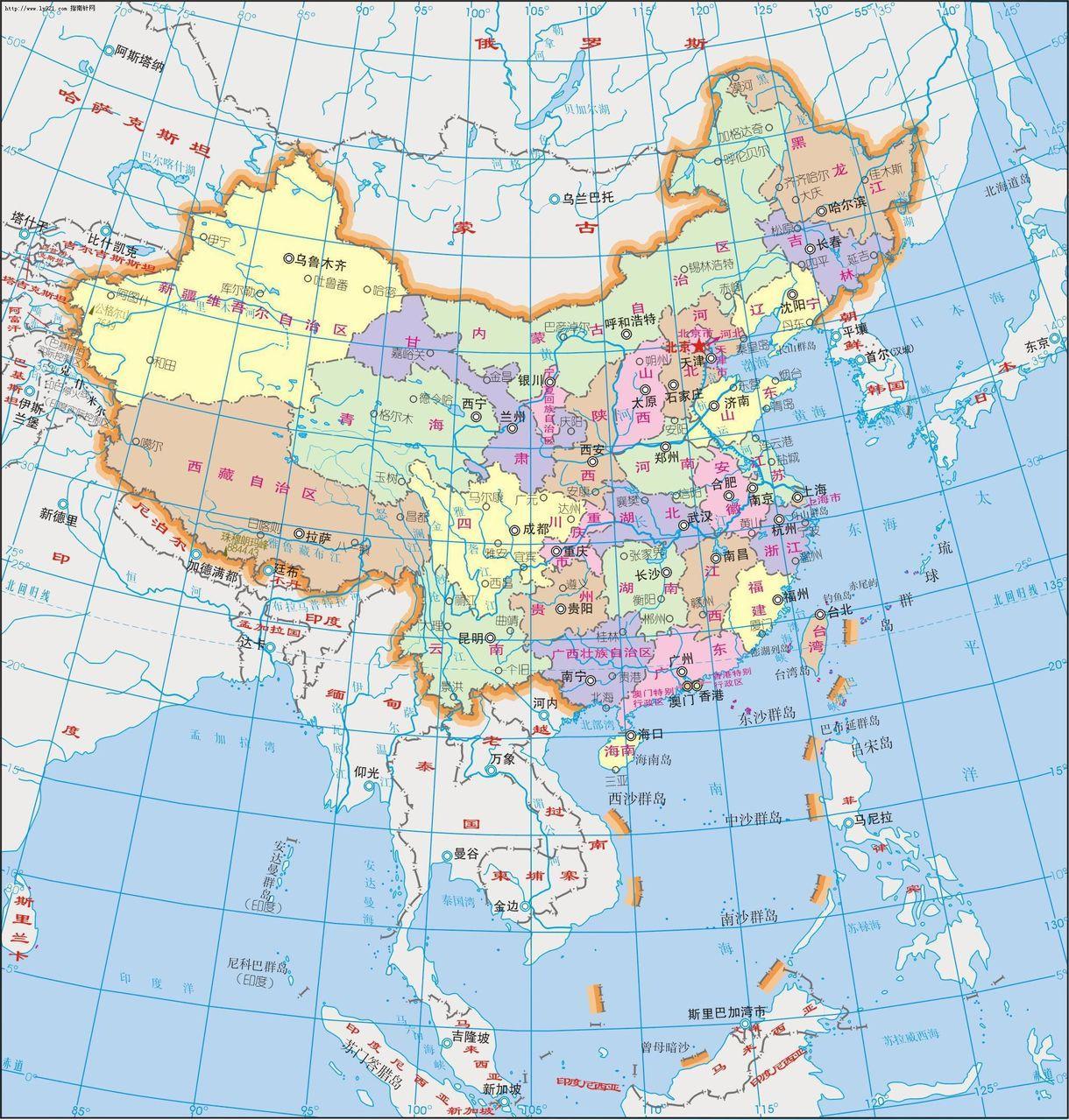 中国地图_中国地图全图图片
