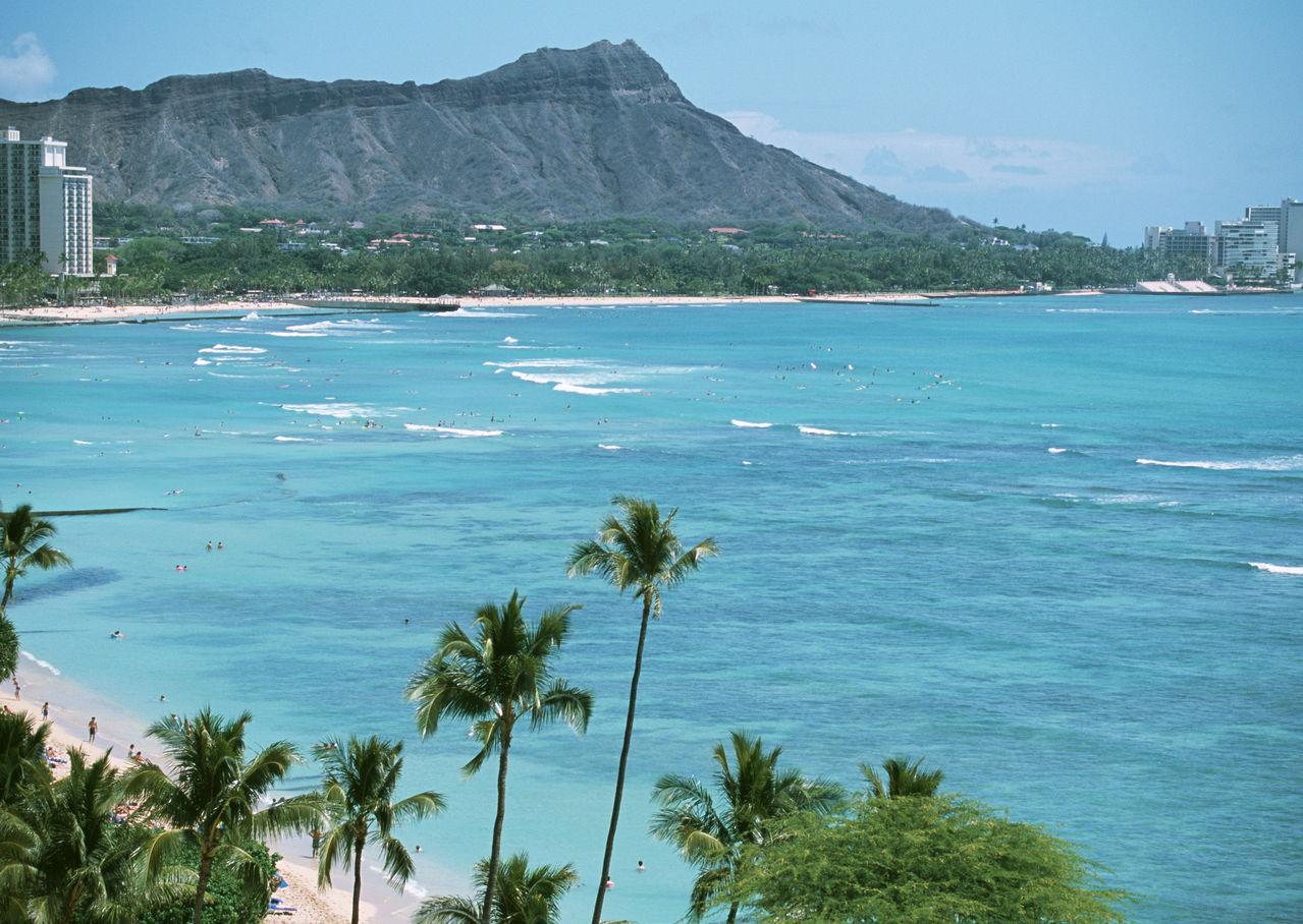 夏威夷威基基海滩 夏威夷海滩美女 1279