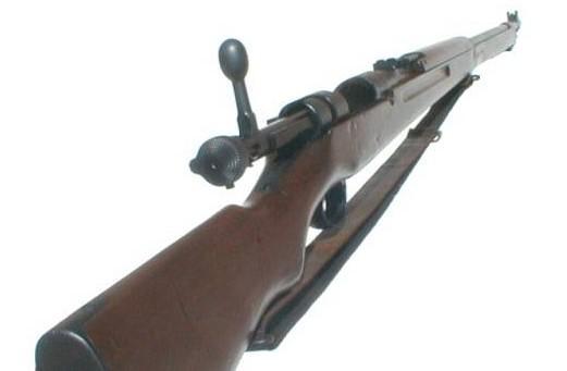 """5毫米步枪(又称""""三八大盖"""")是日本在三"""