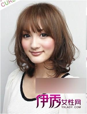 圆形脸发型设计图片_方脸发型设计图片