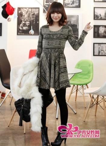 时髦冬裙秀不停 收腰瘦腿显高挑
