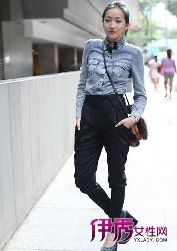 衬衫|秋冬搭配|长裤|针织衫|欧美街拍