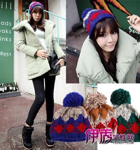 冬季毛线帽子搭配