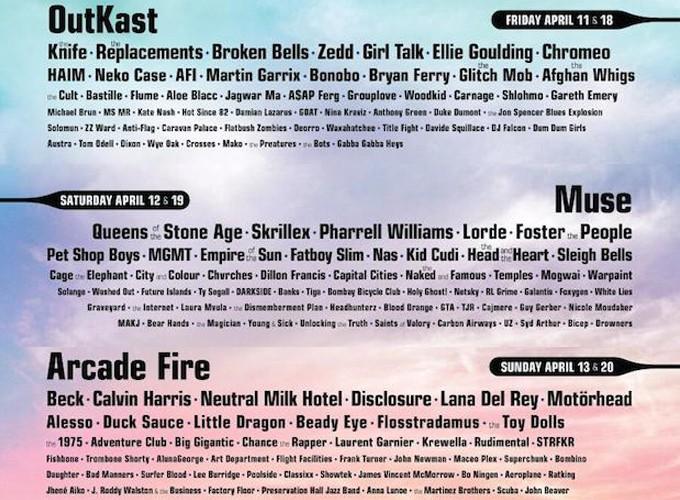 2014 Coachella音乐节节目单