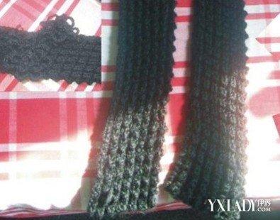 男生围巾的织法图解