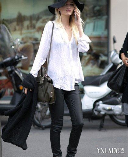 气质少妇紧身裤街拍搭配 百搭紧身裤穿出你的夏日潮流范图片