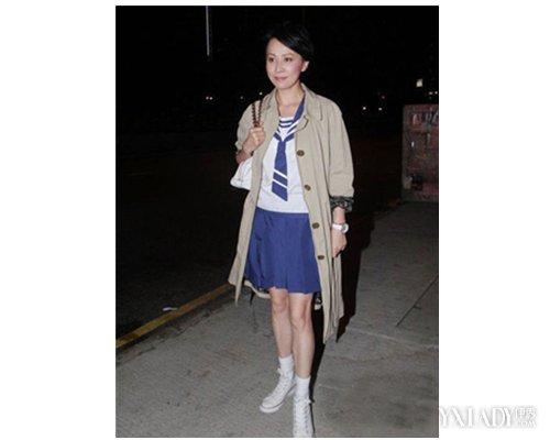 【图】女生帆布鞋花边白袜 彰显青春洋溢的风
