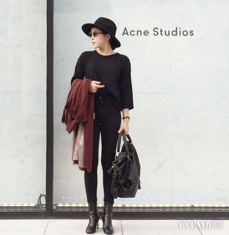 韩版女装简约穿法   全身黑白到底_韩版女装