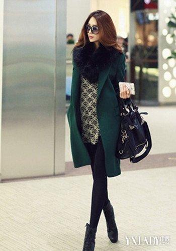 黄大衣搭配绿色短裤_【图】墨绿色外套搭配图片盘点 散发自己独特的魅力与个性(2)_墨 ...