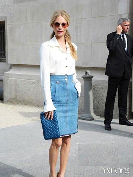 高腰半身长裙
