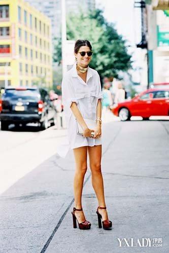 衬衫裙|连衣裙|潮流街拍|穿衣搭配
