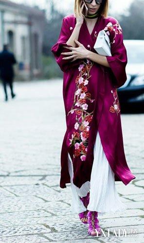 睡袍外穿|潮流趋势|单品搭配|街拍