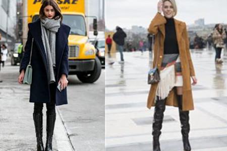 【图】时尚欧美街拍女冬日搭配大衣也能穿出简约范