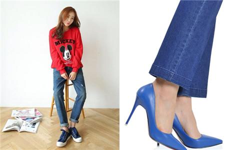 牛仔短裤怎么配鞋子_【图】浅蓝色的鞋子配什么颜色的裤子 这里有秘籍_浅蓝色的鞋子 ...