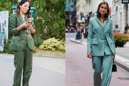 绿色西装怎么搭配 这样穿美成一道风景线