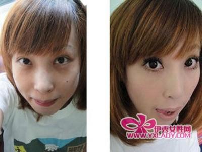 妆前妆后对比图