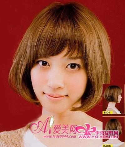 甜美的短发