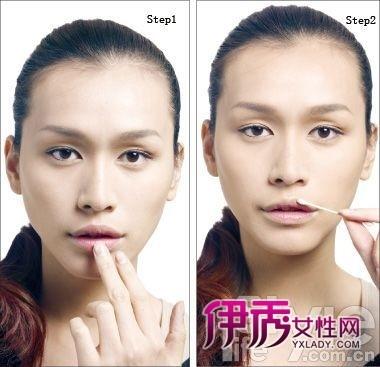 红唇妆涂抹步骤