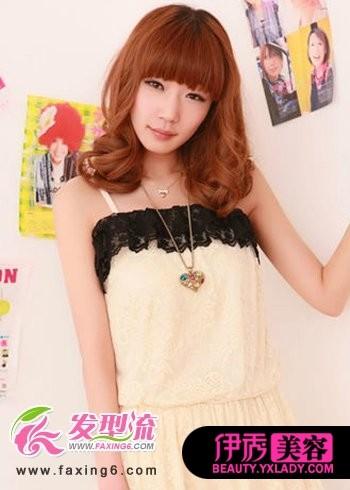 齐刘海发型+中长发梨花头-6款俏丽刘海发型 时尚闪亮一整夏图片