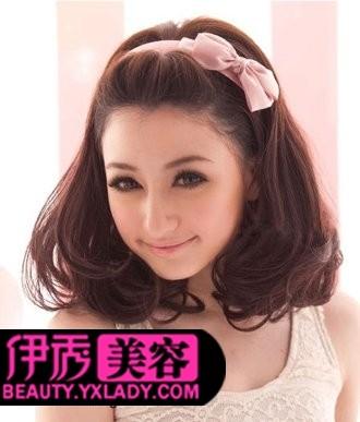 无刘海梨花头假发-梨花头发型 瘦脸梨花头图片欣赏图片