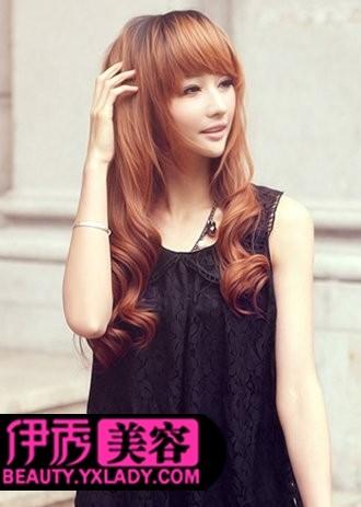 中长发发型 梨花烫发型图片-中长发发型 简单时尚女生发型图片