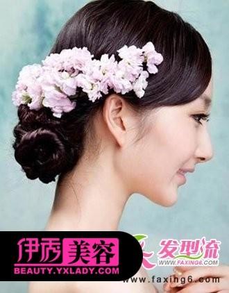 低发髻新娘发型