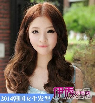 功效.巧克力色染发增添甜美气息.-2014年韩国女生发型长发最流行图片
