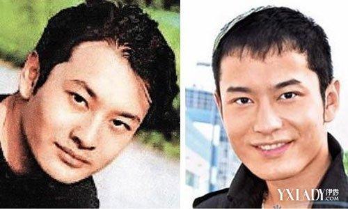 """黄晓明整容前后照片对比""""肉脸照""""曝光"""