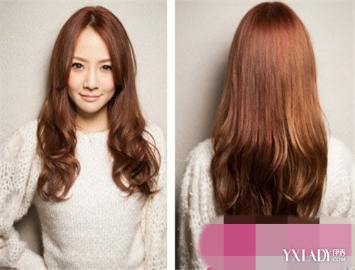 韩式中分微卷发型推荐 无刘海也有女人味图片