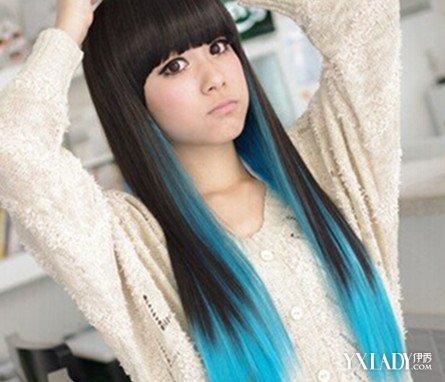 漂染发型图片欣赏 个性时尚更添魅力图片