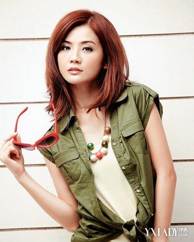 蔡卓妍发型图片减龄发型修颜彰显青春活力