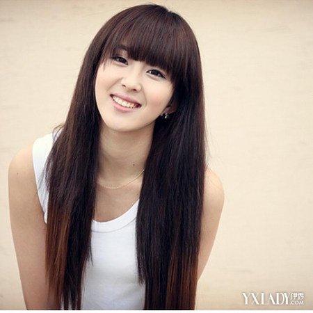 直发齐刘海发型图片学生女中发大全 9款最新日韩风发型图片