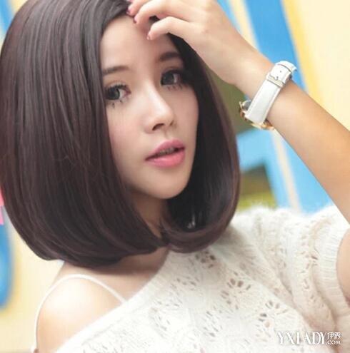 【图】中短发中分内扣发型图片欣赏 4款流行中