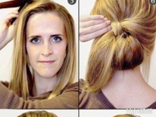 最简单长发盘发发型步骤 三步完成简单盘发图片