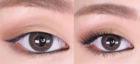 单眼皮做眼线效果图图片