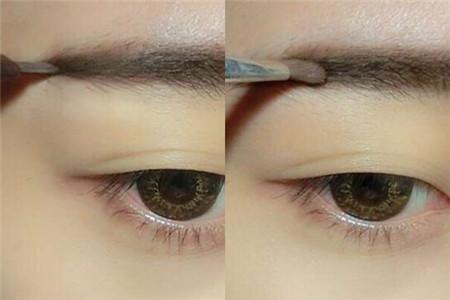 韩式平眉画法图片