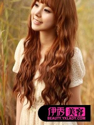 韩式卷发发型 冬日绽放美丽