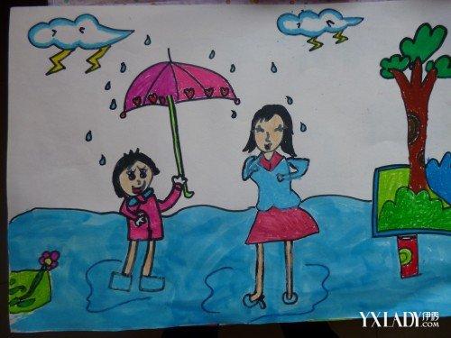 儿童感恩节图画欣赏 我们应学会感恩父母图片